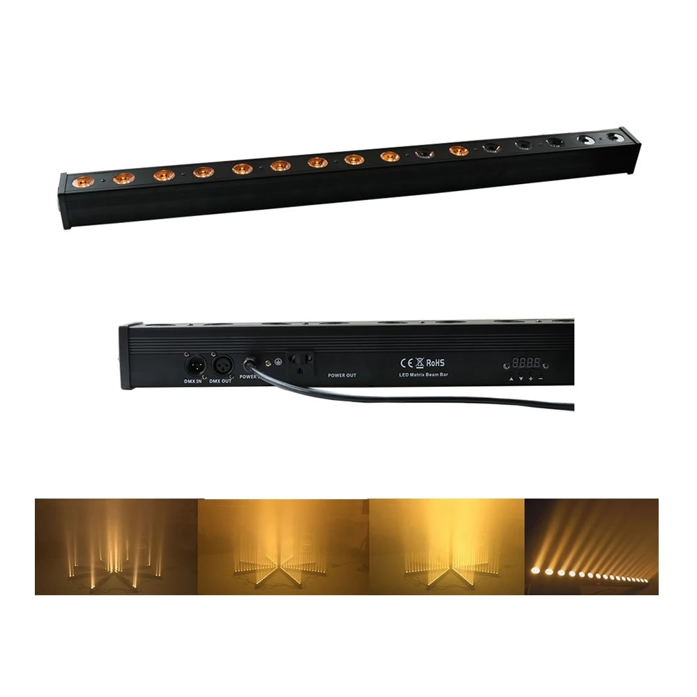16x3 واط اللون الأصفر كري داخلي DMX Led أضواء ساقطة على الجدار DMX512 داخلي DJ المشهد