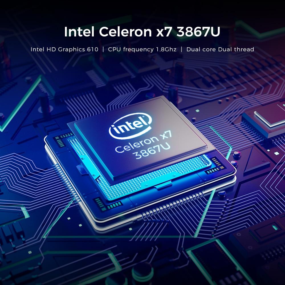 XIDU 12.5 Inch laptop Intel 3867U CPU Quad Core windows10 Notebook 2560*1080 8GB RAM 128GB ROM Dual Wifi HDMI USB Game Laptops