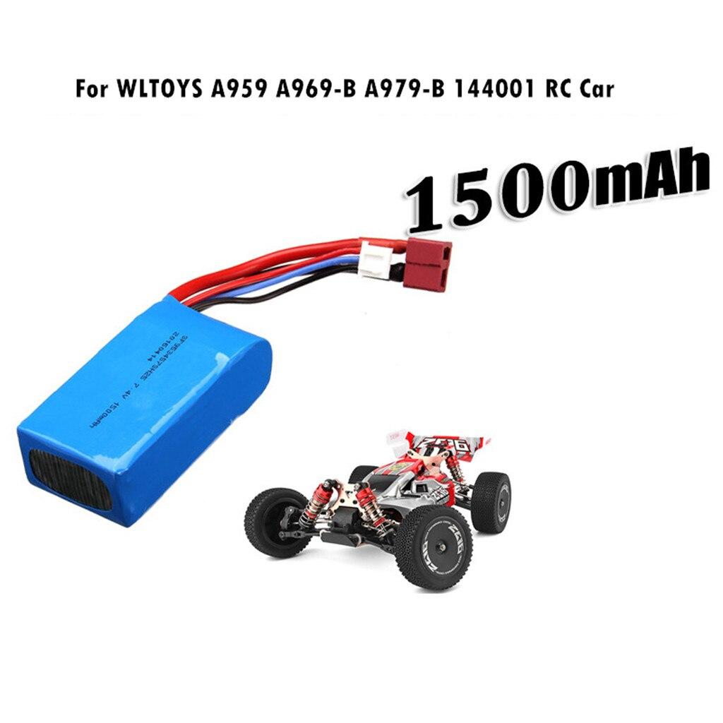 7,4 V 1500mAH batería T enchufe para WLTOYS A959-B/A969-B/A979-B/K929-B/144001/RC coche accesorios de alta calidad