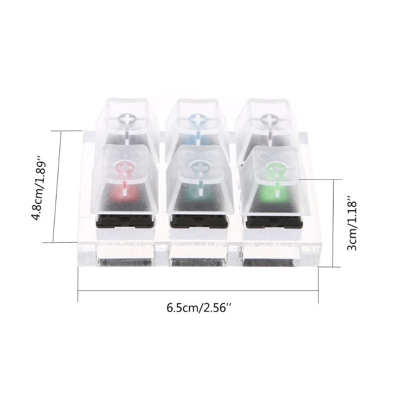 Mechanical Keyboard Clear Keycaps 6 Key Caps Swit6X Tester Kit  For Cherry MX enlarge