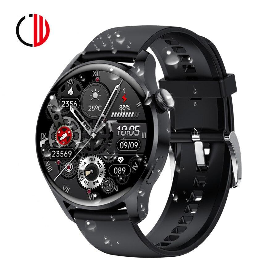 CZJW كامل اللمس الساعات الذكية ساعة أندرويد الرجال 390*390 HD جهاز تتبع معدل ضربات القلب لأغراض اللياقة البدنية Smartwatch ضغط الدم مقاوم للماء هدية
