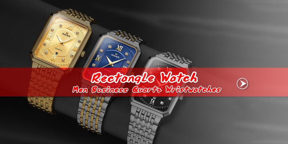 SWISH 2020 Top Brand Men's Quartz Wristwatch Stainless Steel Watch for Men Luxury Casual Waterproof Watches with Luminous