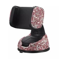 bling phone holder car crystal dashboard interior mount pink rhinestones