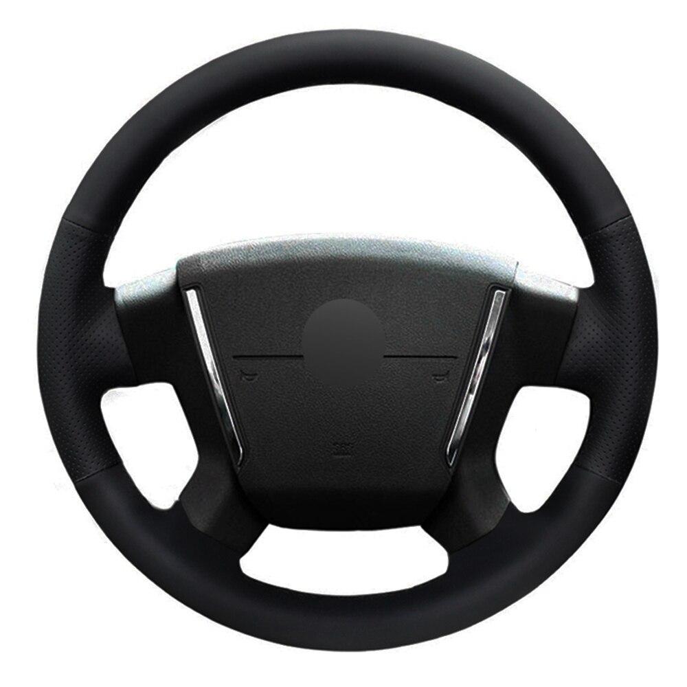 Funda para volante de coche de cuero Artificial negro cosido a mano para Dodge Avenger SXT 2006-2010 Dodge Caliber 2007-2011