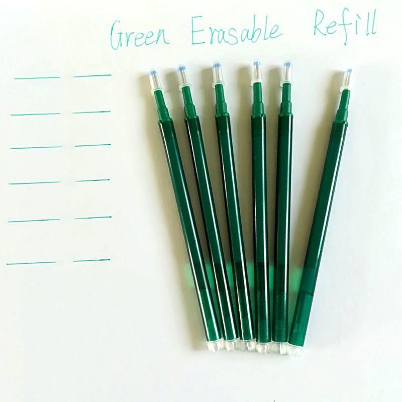 Recharge stylo Frixion à Friction unisexe, lot de 6 pièces, recharge pour stylo Gel de 0.7mm, papeterie pour école et bureau