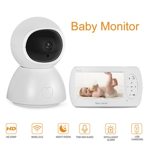 Security Baby Monitor 1080P 4.3 inch 360 Degrees Rotating Night Vision US/EU/UK/AU Security Household Baby Camera Two Way Audio