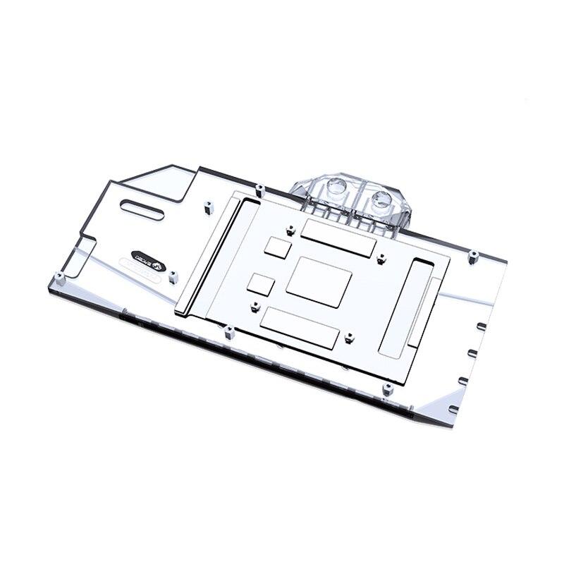 ASUS TUF RX 6900XT, Bykski GPU Water Cooling Block 6800XT O16G Gaming Graphics Card Liquid Cooler, A-AS6900XT-X gpu backplate