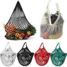 1 X Bequem Einkaufen Mesh Tasche Wiederverwendbare Net String Lagerung Obst Taschen Eco Freundliche Tasche Gemüse Organisatoren Handtasche Tote
