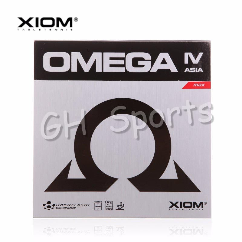 Xiom original omega 4 iv ásia espinhas no tênis de mesa de borracha pips-em ping pong esponja tenis de mesa