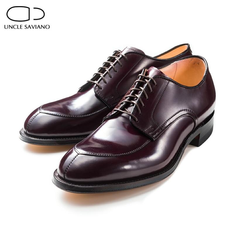 Туфли дерби для жениха дяди савиано, свадебные деловые модные туфли для мужчин, оригинальные дизайнерские туфли из натуральной кожи фото