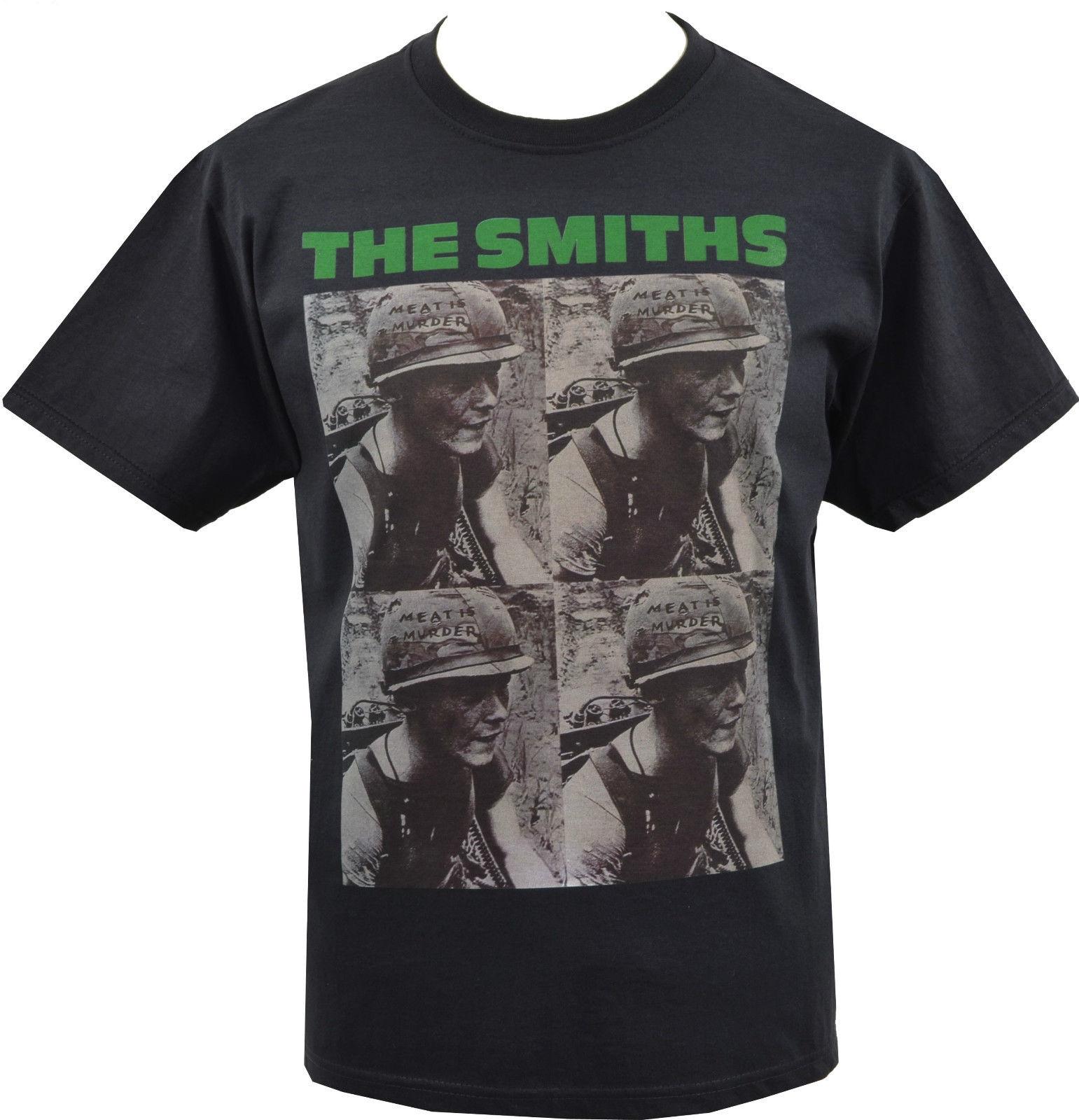 Hommes noir la viande de Smiths est meurtre armée casque Vegan Morrissey S 5Xl 2019 mode 100% coton t-shirt 017723