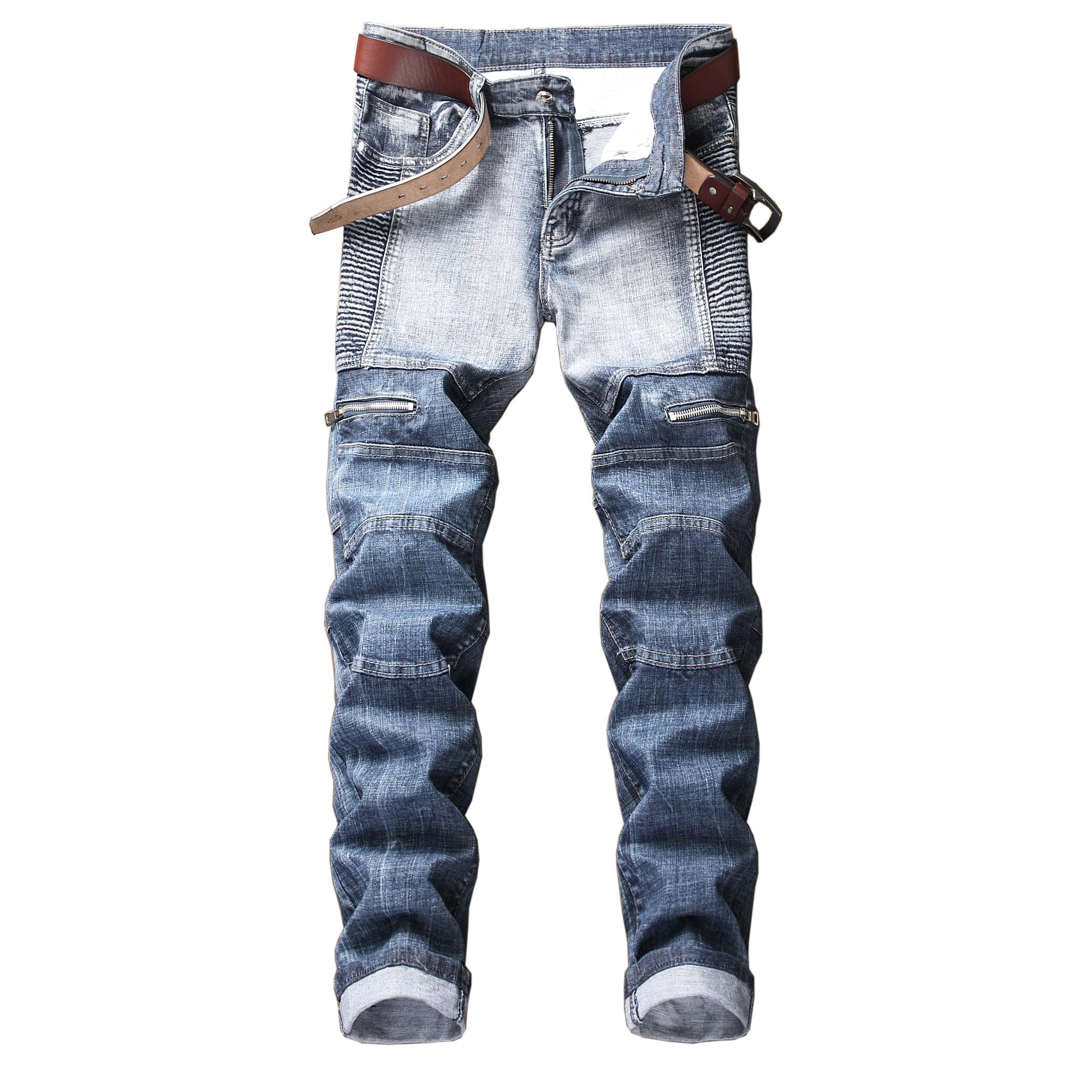 джинсы штаны мужские брюки мужские джинсы для мужчин штаны Джинсы мужские зауженные стрейчевые, модные брюки из денима с популярным логоти...