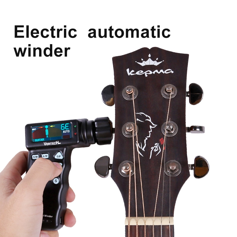 Verterchnk Automatic Tuning Without Turning The Knob Manually Automatic Guitar Tuner Can Be Charged Guitar Tuner enlarge