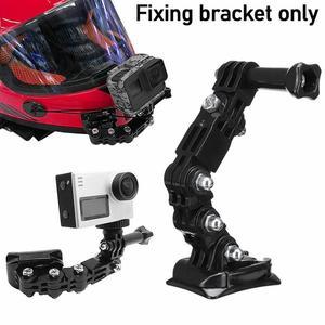 Крепление для мотоциклетного шлема, изогнутая клейкая рукоятка для Gopro Hero 8 7 6 5 4 3 SJCAM sj4000, аксессуары для экшн-камеры XiaoYi 4K, 1 шт.