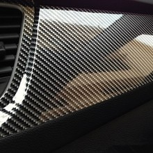 High Glossy 5D Fibra De Carbono Wrapping Vinyl Film para laguna 2 abarth 500 mitsubishi lancer kia picanto volkswagen polo 2018 assento
