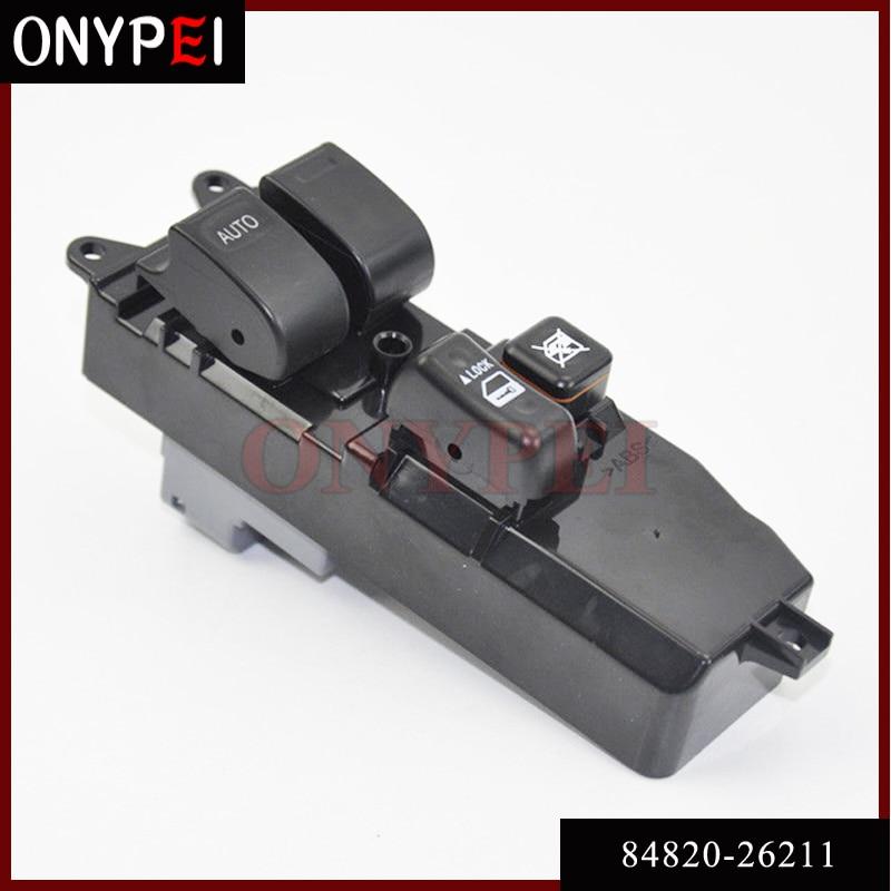 Alta calidad 84820-26211 interruptor principal de ventana eléctrica para Toyota Hiace KDH2 LH2 TRH2
