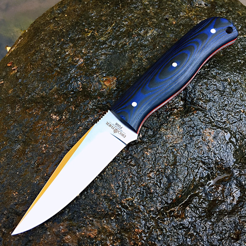 [BROTHER F008] 61HRC D2 شفرة سكين شفرة ثابتة Bushcraft السكاكين مستقيم التكتيكية الصيد التخييم عالية الجودة EDC أداة