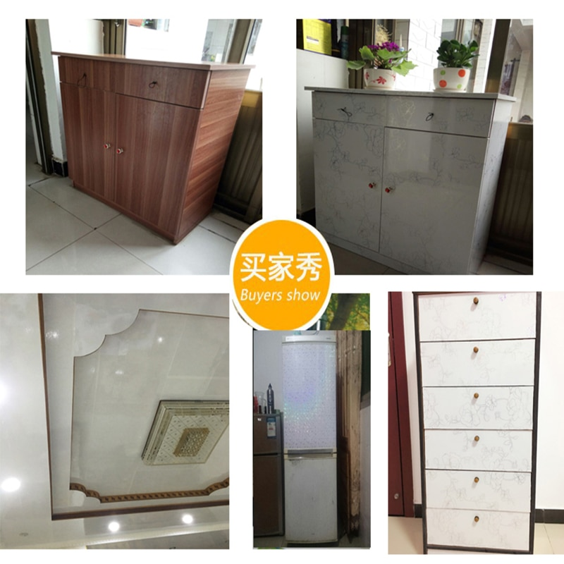 Thicken paint pearlescent self-adhesive furniture renovation cabinet stickers pvc wall stickers wallpaper waterproof