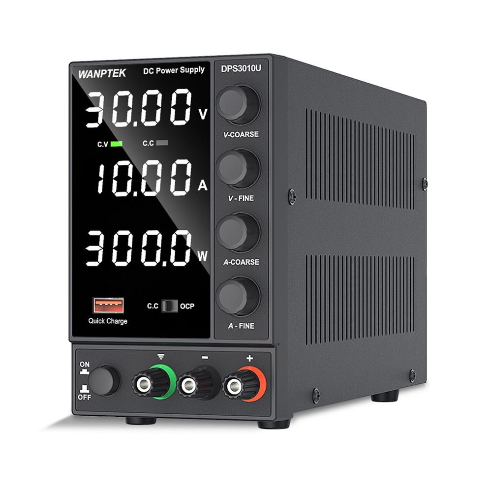 Wanptek قابل للتعديل تيار مستمر امدادات الطاقة 30 فولت 10A LED الرقمية منضدة معمل مصدر الطاقة استقرت امدادات الطاقة الجهد المنظم التبديل