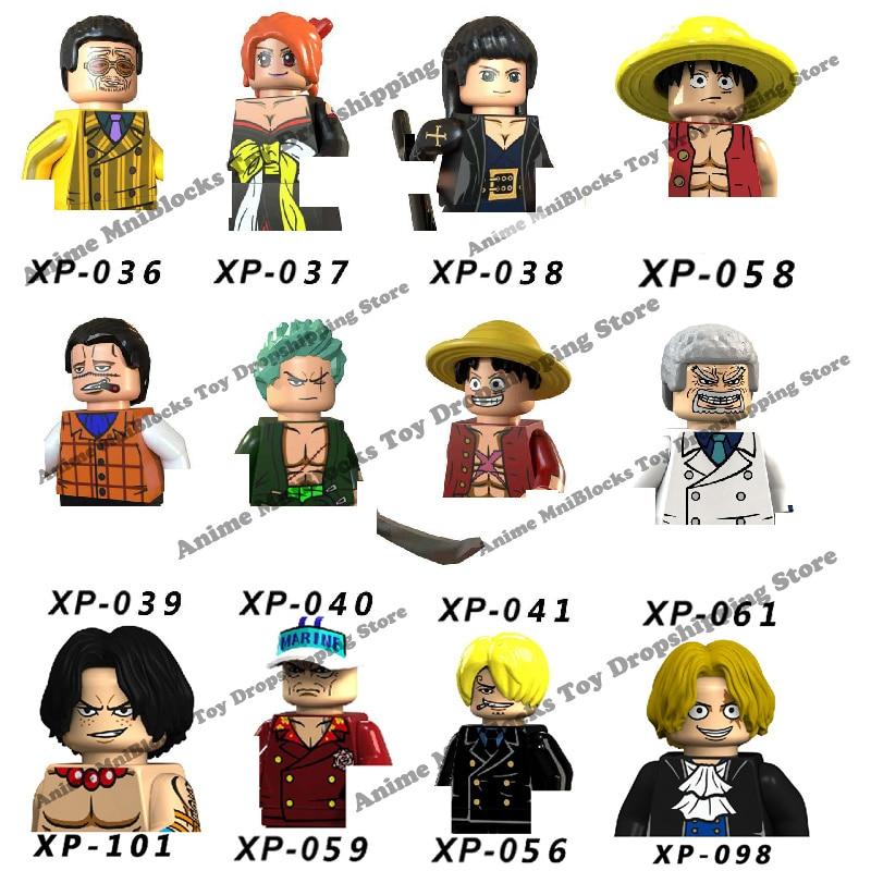 XP036 KT1008 KT1013 аниме цельнокроеные блоки кирпичи Мини фигурки героев серии головок Обучающие Детские игрушки Подарки на день рождения