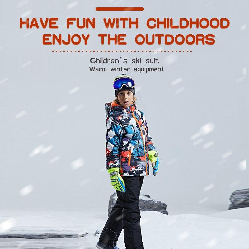 جاكيت التزلج الشتوي PHMAX للأطفال, جاكيت تزلج شتوي PHMAX للأطفال مقاوم للماء سميك للتدفئة للأطفال ملابس التزلج في الهواء الطلق ملابس التزلج على ا...