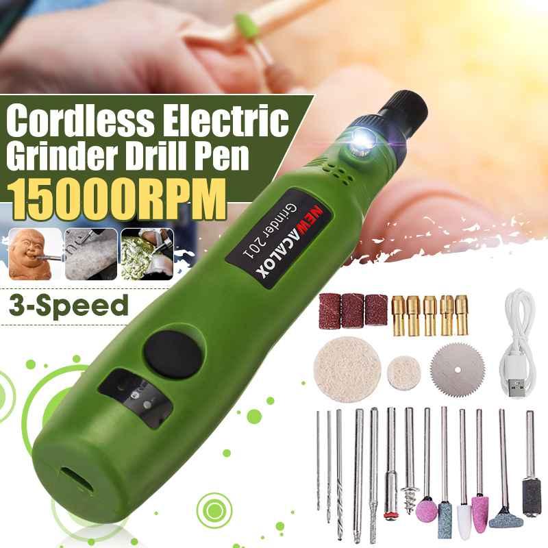 Usb conjunto de broca gravador elétrico diy carpintaria gravura caneta 3-speed recarregável mini moedor rotativo sem fio com acessórios