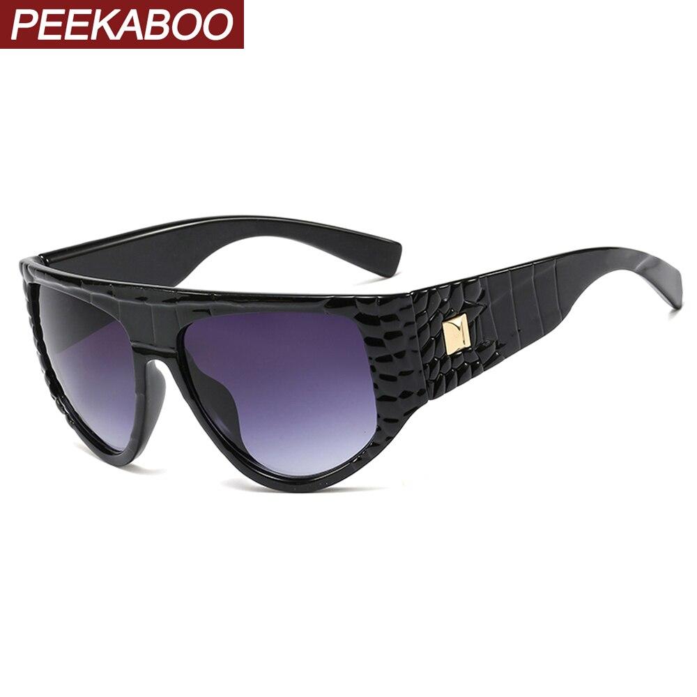 Peekaboo-lunettes de soleil pour femmes, à grande monture épaisse, noires, blanches, uv400, articles cadeaux, 2020