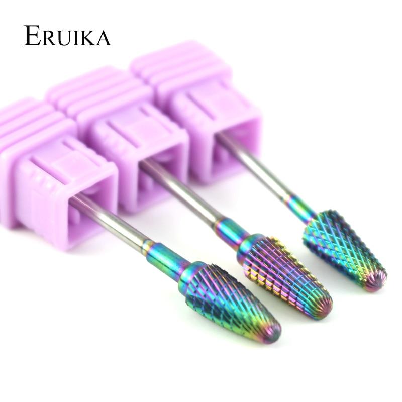 Твердосплавные фрезы для ногтей ERUIKA, 3 типа, битовое электрическое сверло для удаления мозолей, хвостовик, маникюрный аппарат, инструменты д...