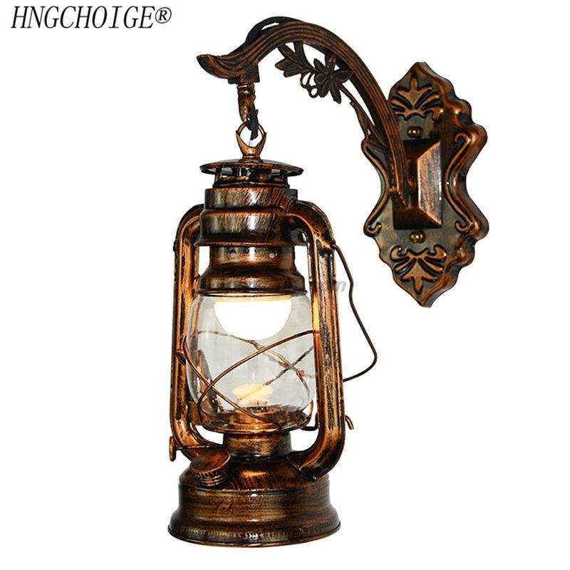Lámpara de pared LED Vintage, lámpara de pared Retro de queroseno, luminaria europea de estilo antiguo