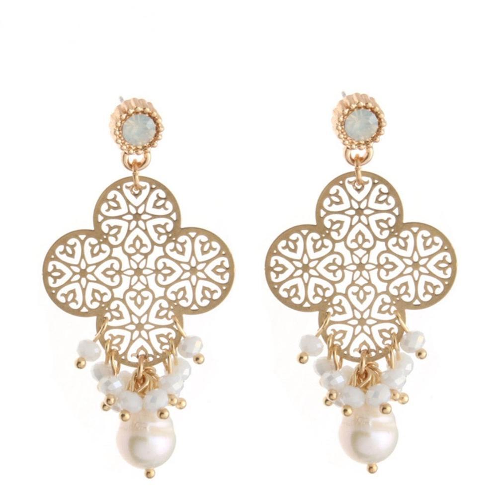 Oorbellen-pendientes de lujo originales para mujer, perlas de cristal de moda, para boda, exquisitos, joyería