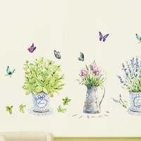 removable flower garden removable wall art sticker pvc decal diy room home mural decoration