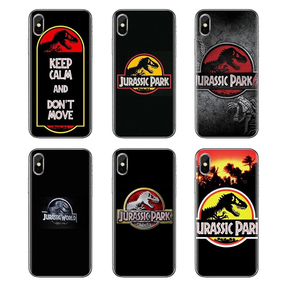 Para iPhone XS Max XR X 4 4S 5 5S 5C SE 6 6S 7 8 Plus, Samsung Galaxy j1 J3 J5 J7 A3 A5 Parque Jurásico dinosaurio caja del teléfono de silicona