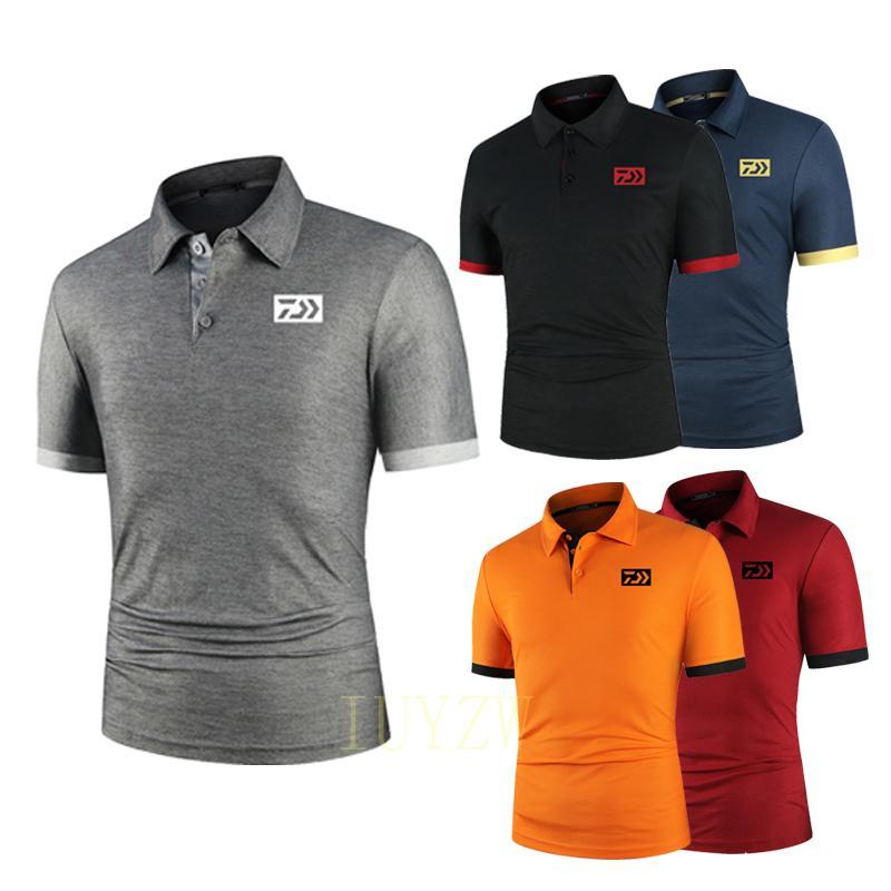 Одежда Daiwa для рыбалки, дышащая рубашка для рыбалки, Мужская футболка с коротким рукавом для рыбалки, одежда для рыбалки, летняя быстросохну...