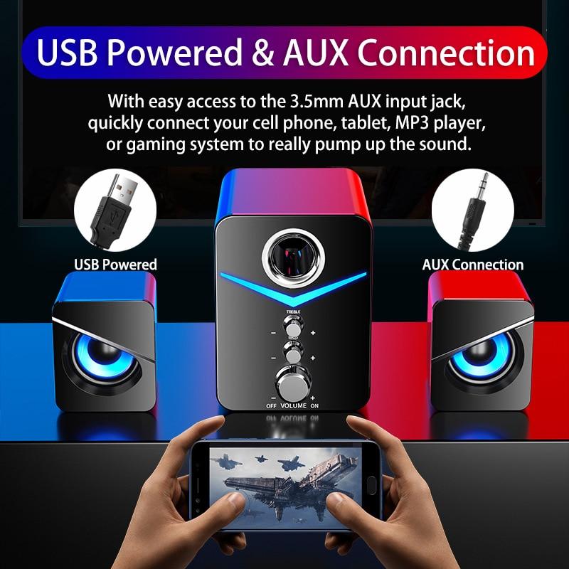 Home Theater System Caixa De Som PC Bass Subwoofer Bluetooth Speaker Computer Speakers Music Boombox Desktop Laptop Altavoces TV enlarge