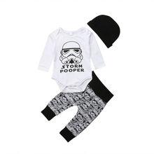 Tolader-vêtements pour bébés, ensemble Star Wars, hauts et pantalons, tenues dautomne, pour nouveau-nés de 0 à 18 mois