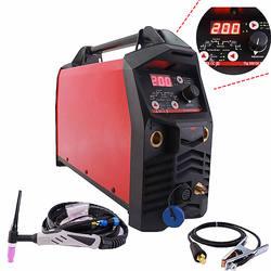 Profissional digital tig 200a pulso máquina de solda de partida quente hf ignição anti vara arco força ce igbt inversor mma tig soldador