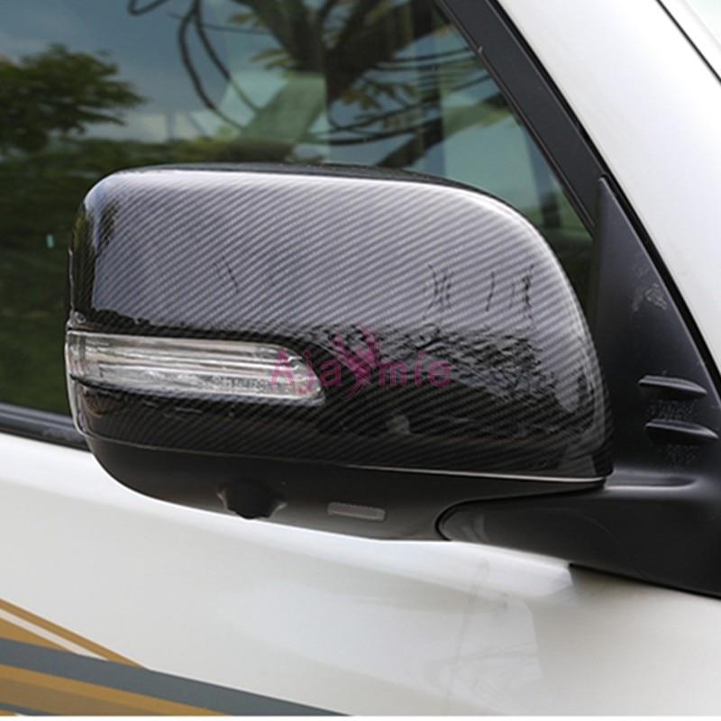 Estilo de coche cubierta de espejo lateral tipo alerón vista trasera Overlay Car Styling LC para Toyota Land Cruiser 200 Accesorios