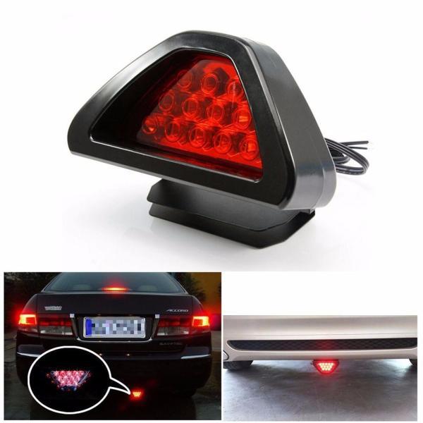 Estilo Universal 12 LED rojo trasera tercer freno de seguridad de la luz de la lámpara luz trasera de coche Universal LED bombillas de destello # PY10