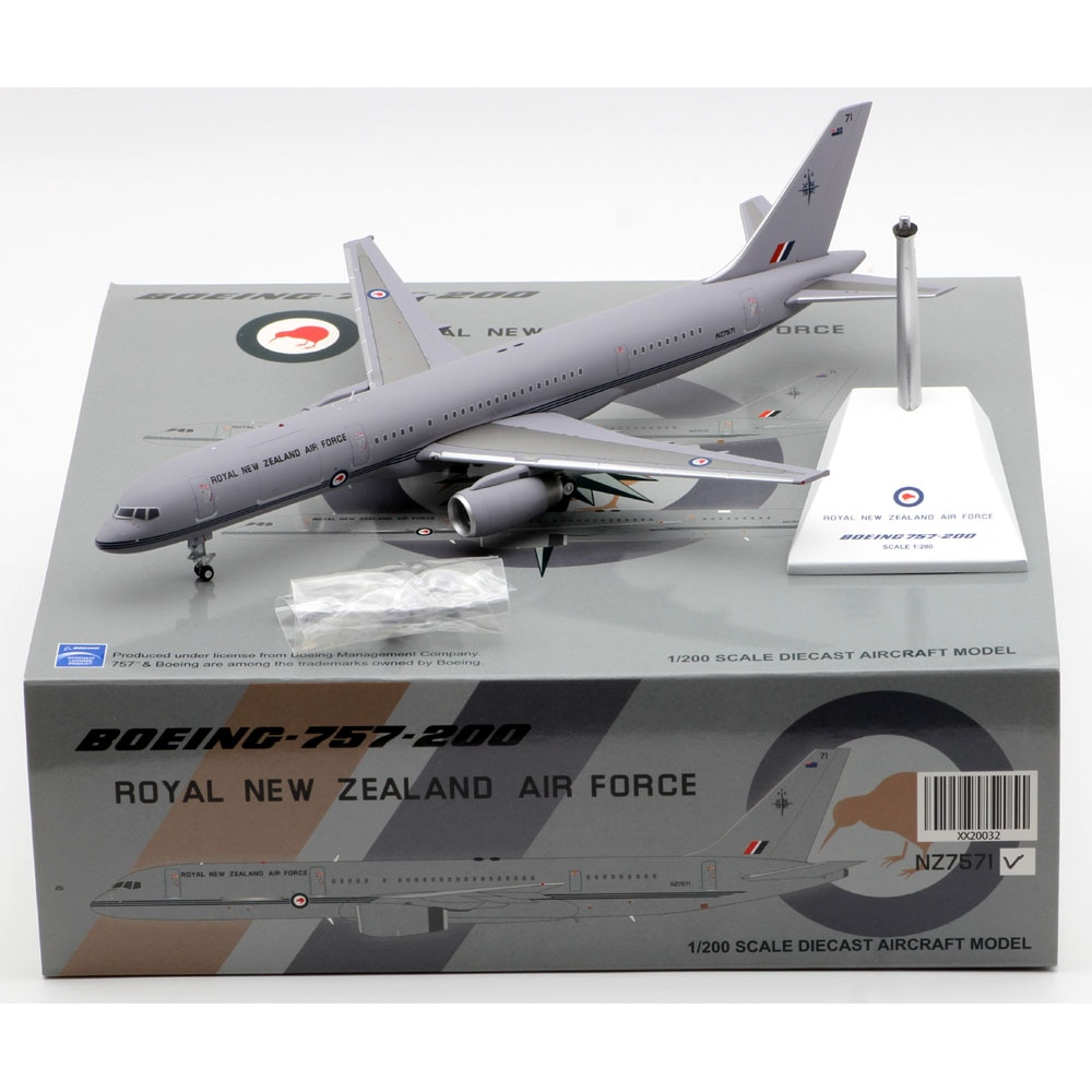1:200 Alloy Collectible Plane Gift JC Wings XX20032 Royal New Zealand Air Force Boeing B757-200 Diecast Aircraft Model NZ7571