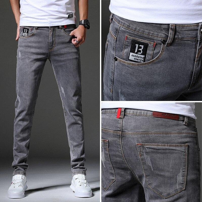 Брендовые мужские джинсы, облегающие джинсы скинни, дизайнерские эластичные прямые джинсы, Стрейчевые брюки, джинсы для мужчин джинсы cerruti джинсы скинни