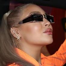 Oversized Rectangle Personality Sunglasses Men Women Fashion UV400 Glasses