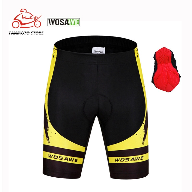 WOSAWE New Men Gel Padded Moto Shorts Shockproof MTB Bicycle Mountain Bike Clothing Breathable Sports Cycle Wear Downhill Shorts enlarge