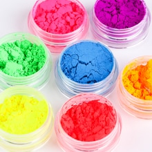 1PC Neon Loose Powder Eyeshadow Pigment Matte Mineral Spangle Nail Powder Shimmer Shiny Eye Shadow W
