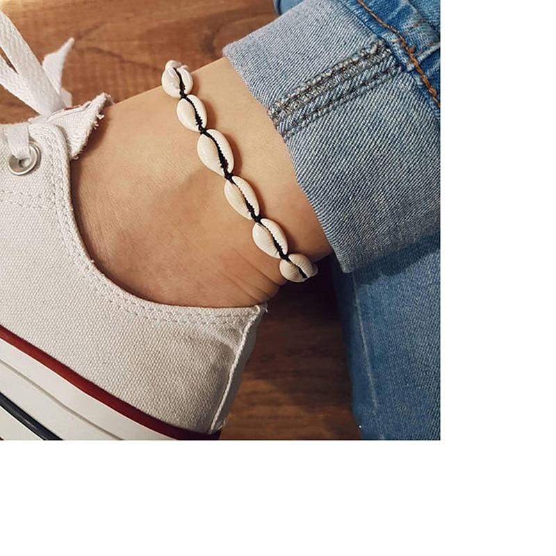 Fashion Bracelet Foot Jewelry Retro Anklet For Women Girls Ankle Leg Chain Charm Sea Shell Bohemian Ethnic Wind Anklet Bracelet