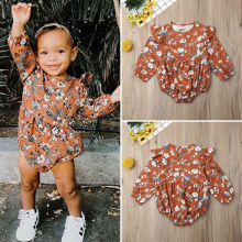 CA Newborn Baby Girl 0-24M Long Sleeve Floral Romper Jumpsuit Outfits Clothes
