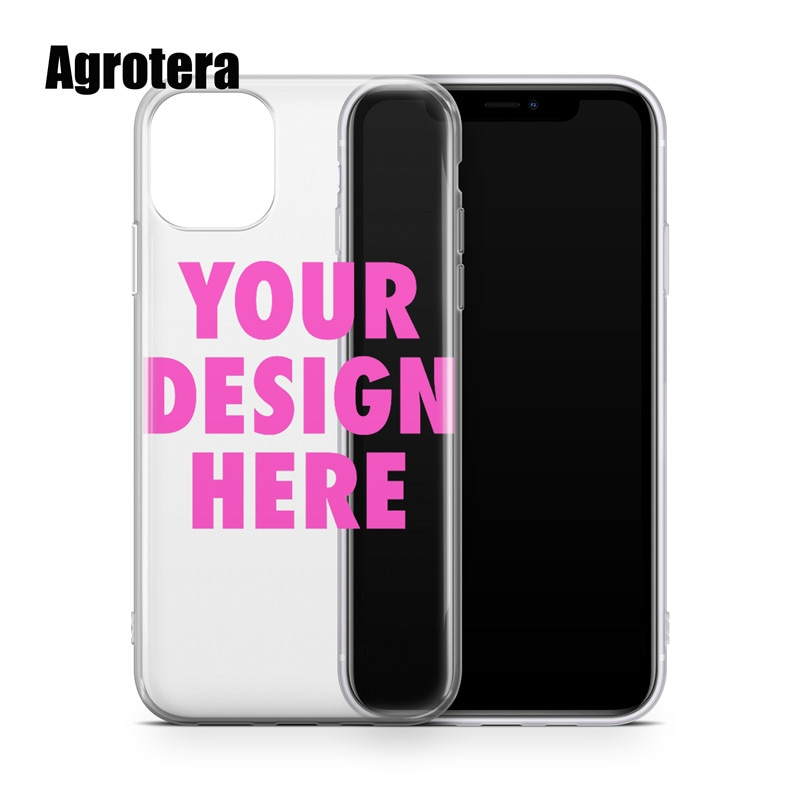 Agrotera Create Your Own Custom Clear TPU Phone Case Cover for iPhone 5 SE2020 6 6s 7 8 Plus X Xs XR Max 11 12Pro Max 12 mini