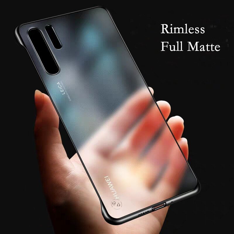 Матовый чехол без оправы для телефона Huawei P20 P30 Lite P40 Pro, Прозрачный чехол для Huawei Honor 8X 10i 8A 20 Pro Mate 20 Pro