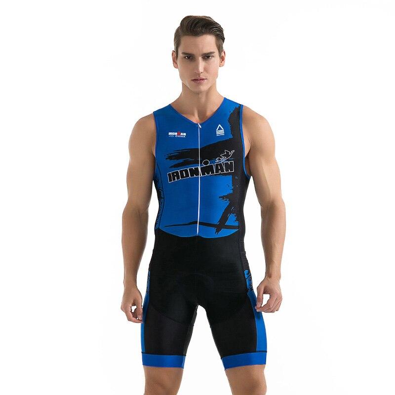 DE EQUIPO PROFESIONAL Ropa de Ciclismo Hombre Verano Tri traje Ciclismo camisetas Ropa para nadar traje de Triatlón
