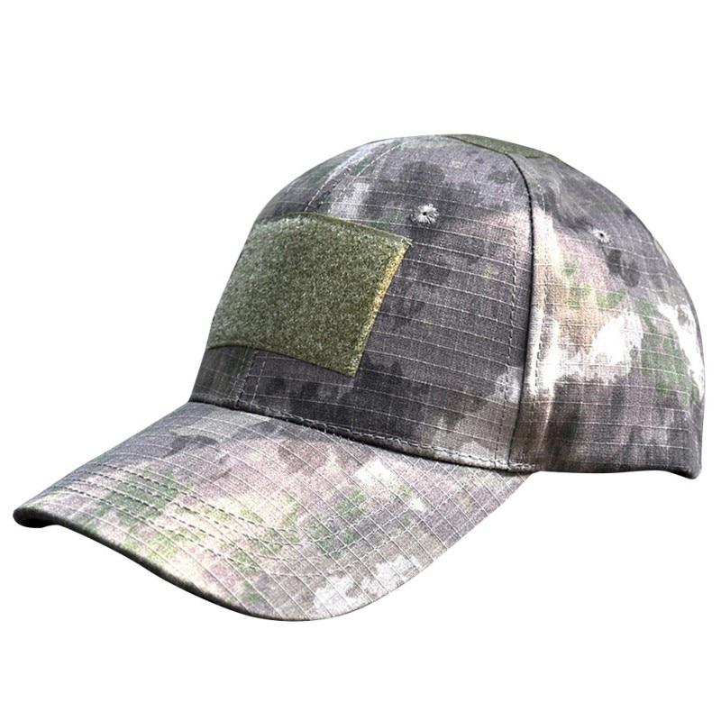 Ao ar livre dos homens das mulheres digital camo tático camuflagem bandeira remendo caminhadas boné unisex chapéu de sol boné de acampamento