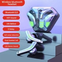 vg168 tws wireless bluetooth earphone noise cancelling gaming breathing light 65ms low latency touch control earbuds